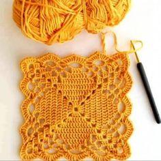 Transcendent Crochet a Solid Granny Square Ideas. Inconceivable Crochet a Solid Granny Square Ideas. Crochet Motifs, Granny Square Crochet Pattern, Crochet Stitches Patterns, Crochet Squares, Crochet Granny, Filet Crochet, Crochet Designs, Crochet Doilies, Crochet Lace