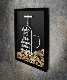 Quadro para Rolhas - Vinho faz...