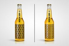 Screen-Printed Geometric Designs Mean No More Bottle Labels