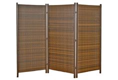 3-Panel Wicker Partition