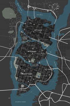 DC Comics - Map of Gotham City - Batman (Chris Nolan Films) Batman Universe, Dc Universe, Batman Origins, Gotham City Map, Movies Costumes, Imaginary Maps, Nananana Batman, Univers Dc, Drawn Art