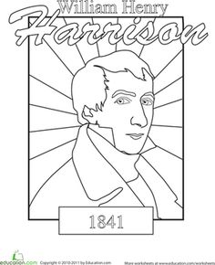 william harrison coloring sheets google search