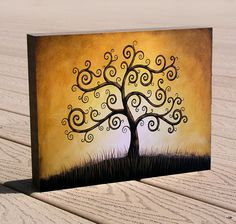 """8 x 10 tree art giclee print, mounted on cradled birch panel.ready to hang.""""Tree of Life"""", by Amy Giacomelli, great gift Wrought Iron Wall Art, Wood Cradle, 10 Tree, Inspirational Wall Art, Diy Wall Art, Types Of Art, Tree Art, Bird Art, Painting Inspiration"""