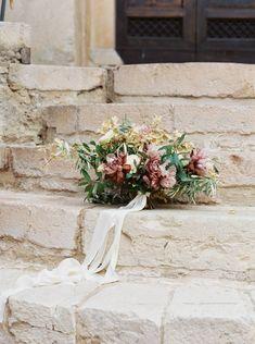 Old world wedding inspiration in an century Italian Abbey Romantic Wedding Flowers, Romantic Girl, Floral Wedding, Bridesmaid Bouquet, Wedding Bouquets, Old World Wedding, Thing 1, 11th Century, Wedding Inspiration