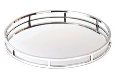 """20"""" Marion Tray, Silver  tray option for game room bar"""