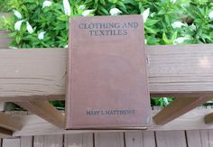 Book Clothing And Textiles Mary Lockwood by HipCatRetroVintage