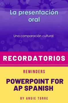 Recordatorios: Reminders for the AP Spansh Test PowerPoint