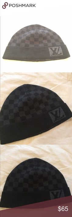f2463764d0a5f Authentic Louis Vuitton Beanie Gray and black color. Quality is very good.  Real Louis
