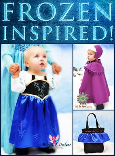 Frozen Inspired Part One: Snow Princess Anna Dress with Free Dress and Boot Motif Templates!