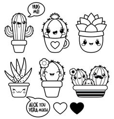 Informations About Kawaii clipart, succulent clipart, Valentine clipart, kawaii cactus clipart, kawa Doodles Kawaii, Cute Doodles, Flower Doodles, Arte Do Kawaii, Kawaii Art, Kawaii Room, Kawaii Stuff, Kawaii Anime, Doodles Bonitos