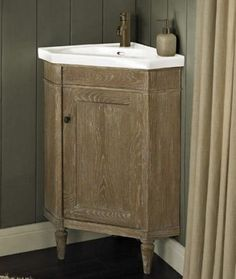 Photo Gallery Website Fairmont Rustic Chic Corner Vanity and Sink Set Weathered Oak