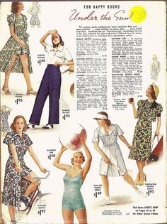Sears & Roebuck Fashion Catalog - Spring and Summer 1938