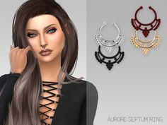 Arthurlumierecc: Aurore Septum Ring • Sims 4 Downloads