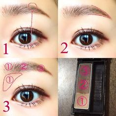 10 beautiful eyebrow cosmetics that are popular among everyone that can be made with Kore - Daily Good Pin Eyebrow Makeup, Makeup Art, Beauty Makeup, Asian Makeup Looks, Korean Makeup, Unique Makeup, Natural Makeup, Japanese Makeup, Make Beauty
