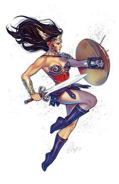 Warrior Woman by Elias-Chatzoudis.deviantart.com on @DeviantArt