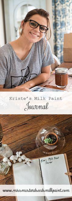 Kriste's Milk Paint Journal | Day 4 - using hemp oil | Miss Mustard Seeds Milk Paint