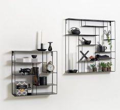 Labyrint hylle sort 40x40 - designerhome.no Sorting, Shelving, Living Room, Interior, Design, Home Decor, Shelves, Indoor, Shelving Racks