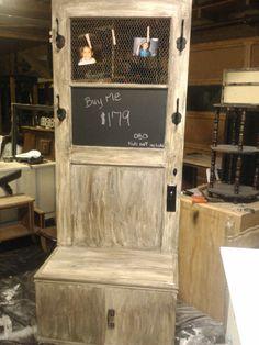 repurpose, old door & cabinet