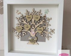 Family tree personalised colour scheme add by ButtonNButterflies