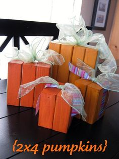 Ginger Snap Crafts: 2x4 pumpkins tutorial.  EVERY year I tell myself I'll make these...and another yr goes by.  THIS YEAR for sure...