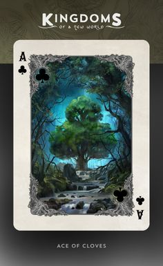Kingdoms of a New World Playing Cards Printed by USPCC. by Nathanael Mortensen.  FINAL DAY ON KICKSTARTER!