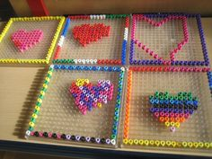 Kralenplank; kikker is verliefd Hartjes maken Valentines, School, Valentine's Day Diy, Valentines Day, Valentine's Day