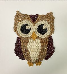 Mosaic Owl This fabulous Bean Mosaic Owl is a wonderful project for fall or any time. Or use your creativity to design other …This fabulous Bean Mosaic Owl is a wonderful project for fall or any time. Or use your creativity to design other … Kids Crafts, Owl Crafts, Family Crafts, Projects For Kids, Art Projects, Arts And Crafts, Mosaic Crafts, Mosaic Art, Owl Mosaic