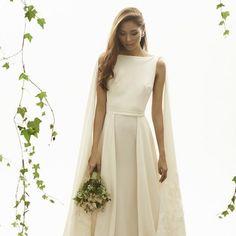 A Contemporary Romance: Vania Romoff Bridal  A chic range of modern classics.