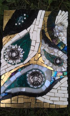 doctors without borders donation shells pearls smalti beads and glass tile by sandi watson - Glass Tile Castle Ideas