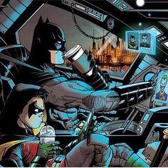 Even Batman needs Coffee to start his day! #ComicsAndCoffee