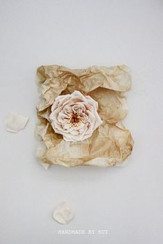 Handmade Fabric Flowers Brooch Shrub Rose by handmadebyrui