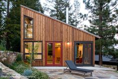 A house with a single broad roof instead of multiple roofs, like this design by architect Cathy Schwabe, is well-suited for solar panels. Plan 891-1