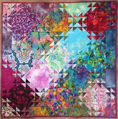 My quilt using Jenny Bowker's pattern Shimmering Triangles