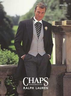 Sidestreet Boutique :: CHAPS RALPH LAUREN Oxford Grey Cutaway  Would look GREAT with the Grey bridesmaids dresses!!!