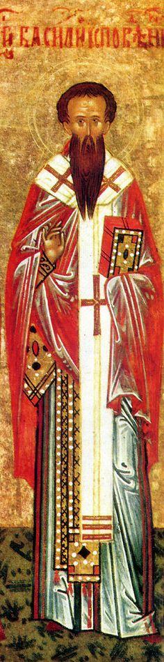 February 28 - Venerable Basil the Confessor, companion of the Venerable Procopius at Decapolis Religious Icons, Religious Art, Lives Of The Saints, Church Icon, St Basil's, Orthodox Christianity, Catholic Saints, Medieval, Religion