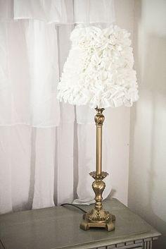 Ruffled Lamp Shades!