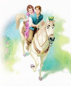 Tangled storybook illustration
