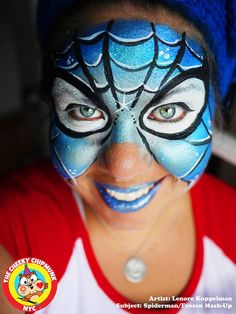 This is a cool spin on spidergirl/man. By using the blue you are able to add variation. Our FAB blues and rainbow cakes are awesome to create this effect. http://www.sillyfarm.com/store/index.php?p=catalog&parent=1136&pg=1