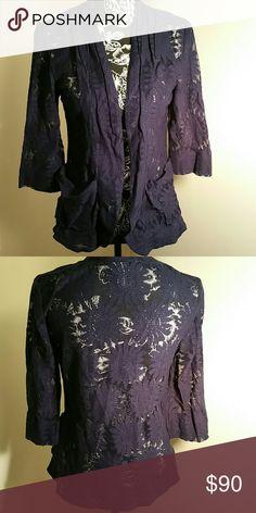 Cato knit jacket Cato sheer knit jacket, size S, 2 pockets Cato Jackets & Coats Blazers