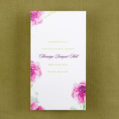 Watercolor Florals - Reception Card weddingneeds.carlsoncraft.com