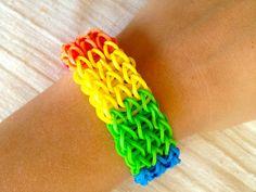 Cute rainbow loom bracelet, its a triple single bracelet i think