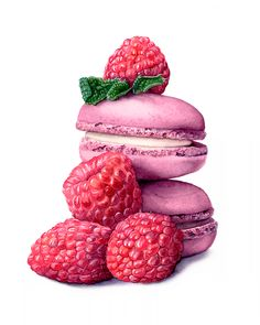 Watercolor Macarons by Katherine Appleby - Watercolor Macarons by Katherine Apple . Watercolor Macarons by Katherine Appleby - Watercolor Macarons by Katherine Apple . Realistic Drawings, Art Drawings Sketches, Colorful Drawings, Macarons, Food Art Painting, Desserts Drawing, Dessert Illustration, Food Sketch, Watercolor Food