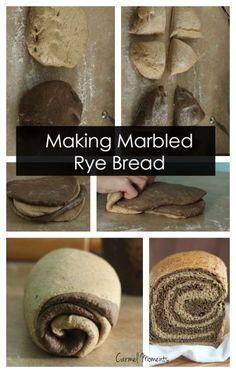 Marbled Rye Bread - Delicious swirled bread perfect for deli sandwiches. Picture tutorial. // gatherforbread.com