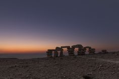 Sunrise over the crate. Sculpture Garden, Scenic Photography, Long Exposure, Milky Way, Crate, Israel, Dawn, Sunrise, Nature