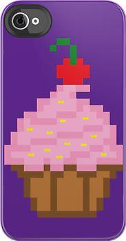 8-Bit Cupcake iPhone iPod Cases