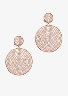 Holiday Party Jewelry Shoes - Holiday Party Accessories - ELLE  Lisa Freede Pavé Disc Drop Earrings