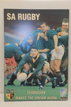 Buy 1995 Rugby World Cup Poster singed by Joost van der Westhuizen for R1.00