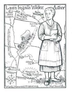 LIW coloring pages from the Cheryl Harness coloring book.