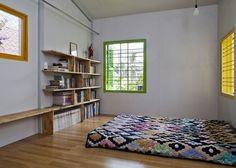 Décor do dia: sereno, alegre e asiático Dormitório minimalista e colorido