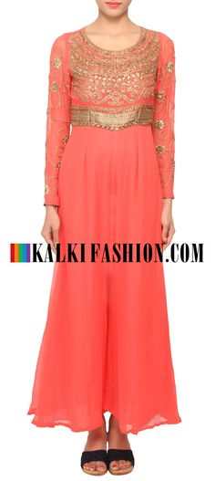 Buy Online from the link below. We ship worldwide (Free Shipping over US$100) http://www.kalkifashion.com/coral-peach-coloured-jumpsuit-only-on-kalki.html